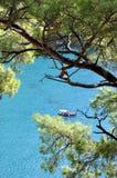 地中海海滩 库存图片