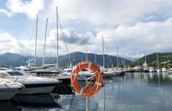 地中海游艇小游艇船坞 蒂瓦特,黑山 库存图片