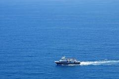 地中海游艇 库存图片