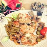 地中海烹调的养育的午餐 图库摄影