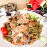 地中海烹调的养育的午餐 库存图片