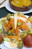 地中海烹调,沙拉 免版税库存图片