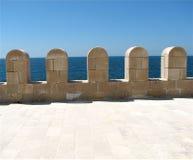 地中海的城堡 免版税库存照片