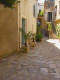 地中海的庭院 库存图片