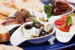 地中海的开胃菜 免版税库存照片