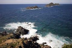 地中海的海岛 库存图片