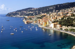 地中海的海岸线 库存图片