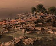 地中海的海岸 免版税库存照片