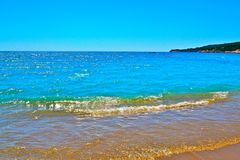 地中海的海岸 库存照片