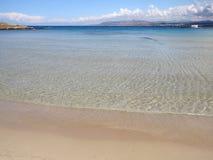 地中海的海滩 库存图片