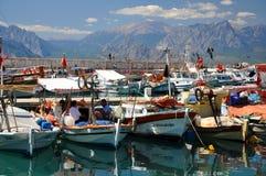 地中海的渔夫 库存照片