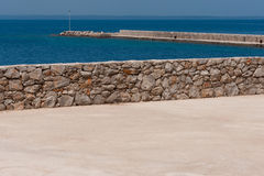 地中海的港口 免版税图库摄影