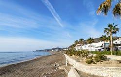 地中海的看法Mojacar的Playa 库存图片