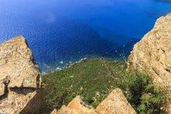 地中海的蓝色 免版税库存图片