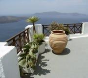 地中海的阳台 免版税库存图片