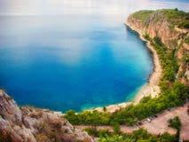 地中海的顶视图 库存图片