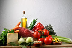 地中海的食物 免版税库存图片