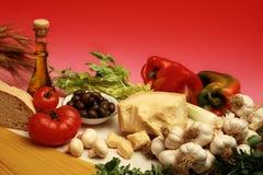 地中海的饮食 免版税库存照片