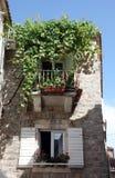 地中海石中世纪房子在布德瓦,黑山 免版税库存图片
