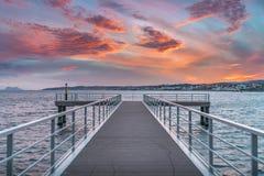 地中海码头 免版税图库摄影