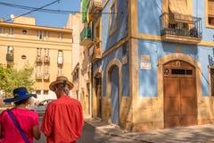 地中海西班牙-旅游业在塔拉贡纳 免版税库存图片