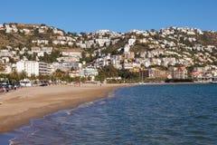 地中海镇玫瑰,西班牙 库存照片