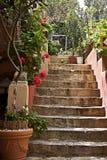 地中海露台跨步样式 库存照片