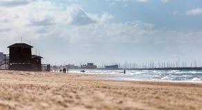 地中海风景海岸  免版税库存照片