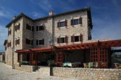 地中海餐馆 库存照片