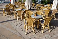 地中海餐馆 库存图片