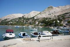 地中海,克罗地亚 免版税库存照片