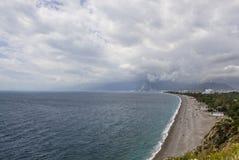 地中海, Konyaalty海滩,安塔利亚 图库摄影