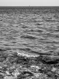 黑地中海 免版税库存图片