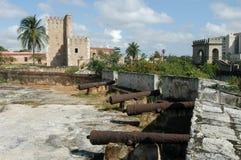 地亚哥哥伦布宫殿(城堡)在圣多明哥 免版税库存图片