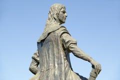 地亚哥哥伦布,克里斯托弗・哥伦布的儿子雕象, 15世纪方济会修士莫纳斯特里奥de圣诞老人Mari? ¿ ½的de la Ri? ¿ ½ bida, Palo 免版税图库摄影