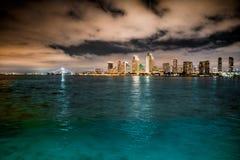 地亚哥晚上圣地平线 免版税库存图片