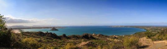 地亚哥苏亚雷斯从la Montagne des Francais,戴安娜,北马达加斯加的` s海湾全景  库存照片