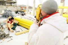 地产测量员工作者 库存图片