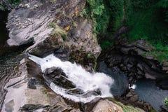地区台湾瀑布wulai 库存照片