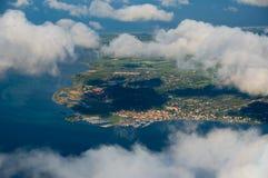 地区哥本哈根视图 免版税库存图片