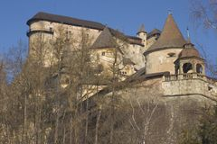 地区城堡的orava 库存图片