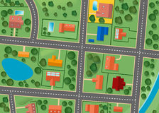 地区映射郊区 库存图片