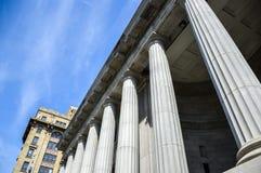 地区法院在城市在魁北克地区 免版税库存图片