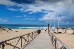 地区海滩在Lourinha,葡萄牙 库存图片