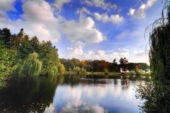 地区湖 免版税库存图片