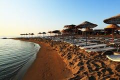 地区的旅馆,蒜味咸腊肠,北Cypru 库存图片