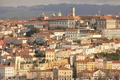 地区莫斯科一幅全景 科英布拉 葡萄牙 库存照片