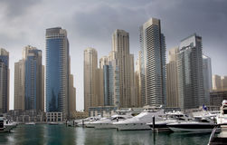 地区迪拜海滨广场 库存图片