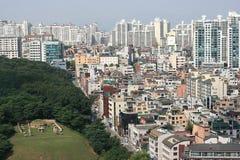 地区gangnam韩国 免版税库存照片