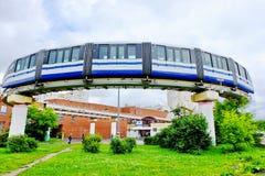 驻地单轨铁路车Timiryazevskaya,莫斯科,俄罗斯 免版税库存照片